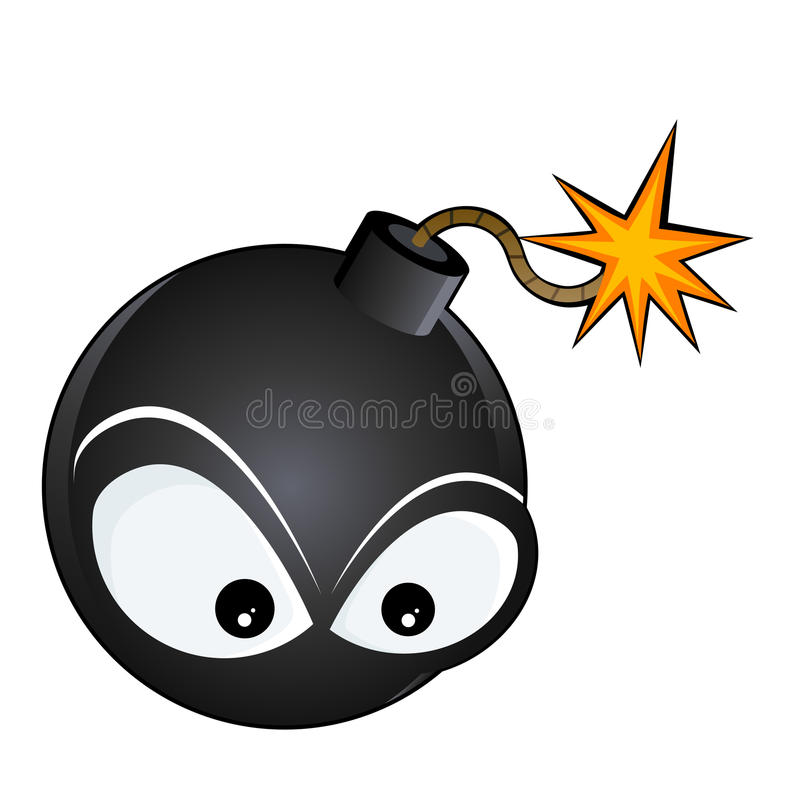 Bomba do Lit ilustração stock