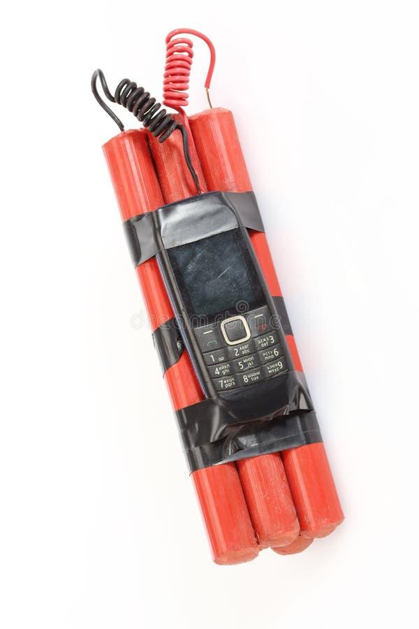Bomba do telefone celular foto de stock royalty free