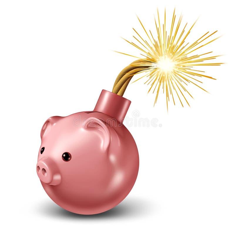 Bomba econômica ilustração stock