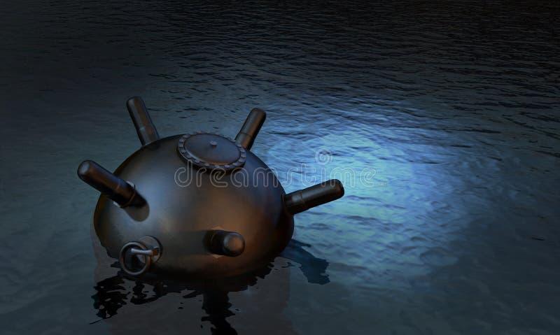 Bomba en el mar libre illustration