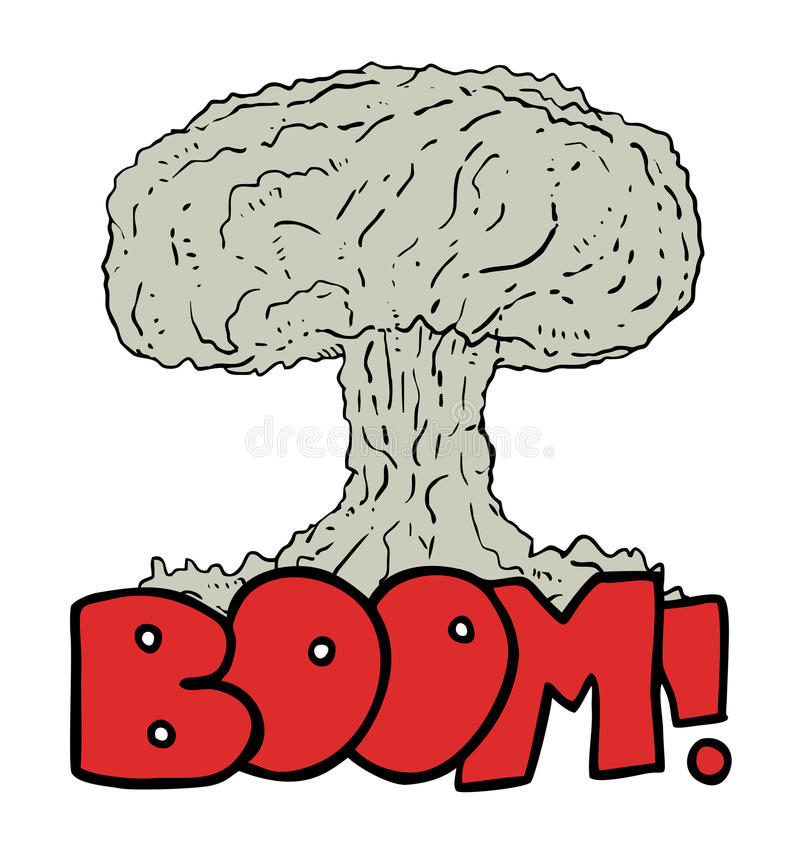 Bomba grande ilustração do vetor