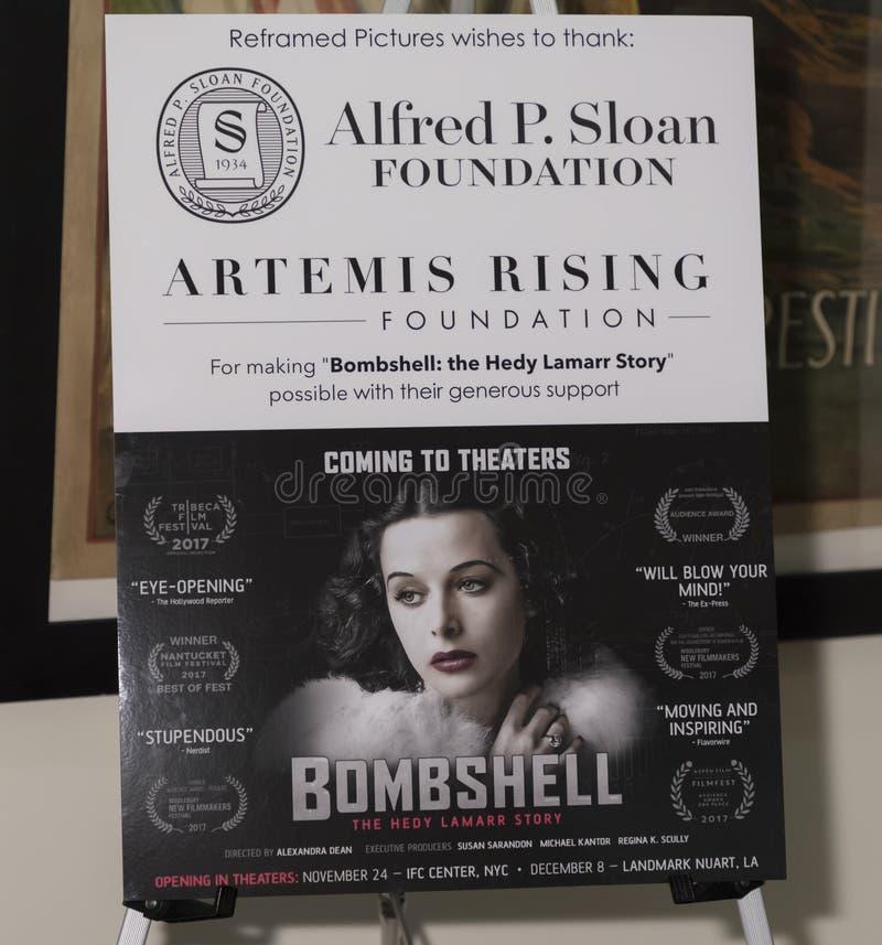 Bomba: Hedy Lamarr Story foto de archivo libre de regalías