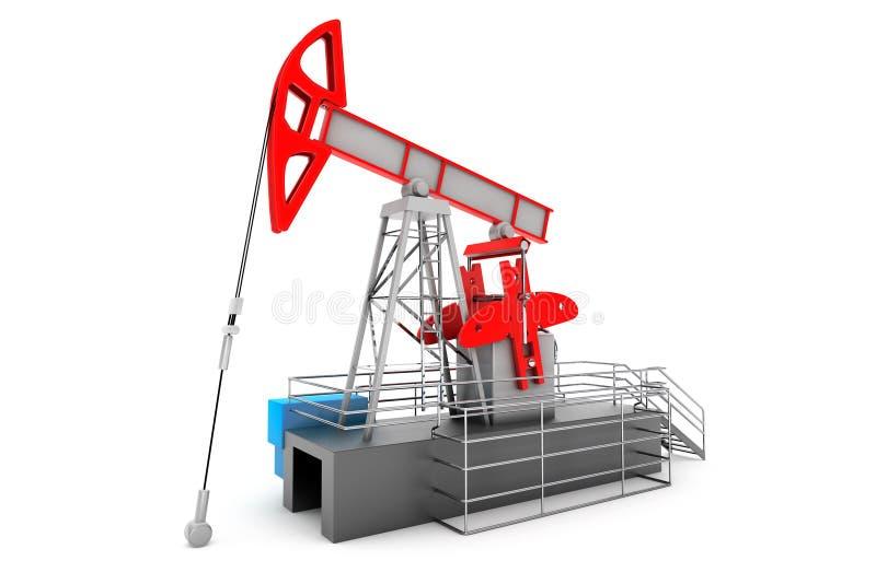 Bomba Jack Oil Crane ilustración del vector