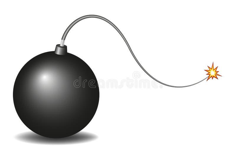 Bomba negra de la vendimia ilustración del vector