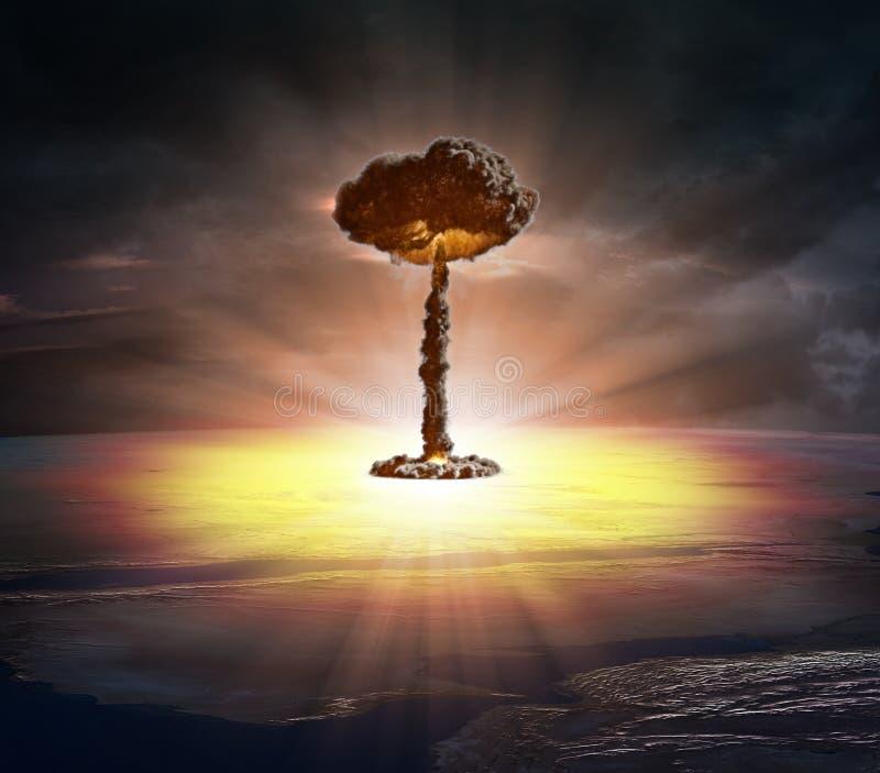 Bomba nuclear imagens de stock royalty free