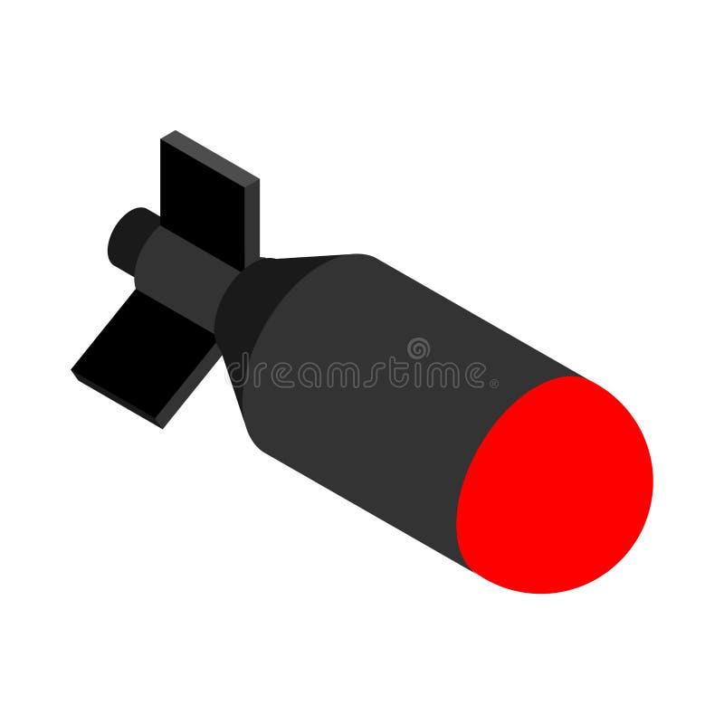 Bomba nuclear aislada Bomba del torpedo Ilustración del vector ilustración del vector