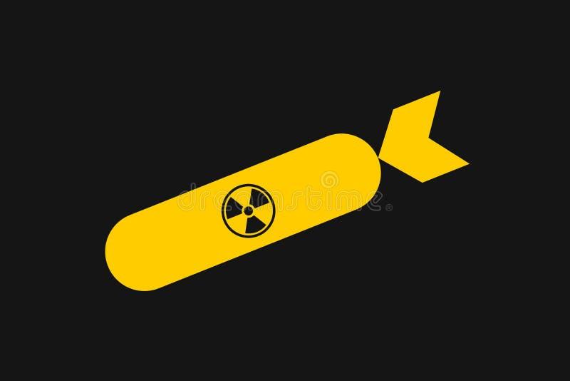 Bomba nuclear y atómica ilustración del vector