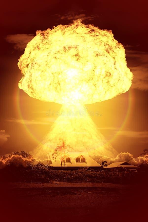 Bomba nucleare illustrazione di stock