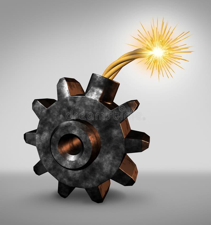 Bomba a orologeria di affari illustrazione vettoriale