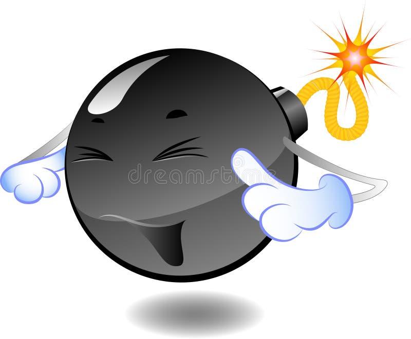 Bomba - serie de bombas de la historieta stock de ilustración