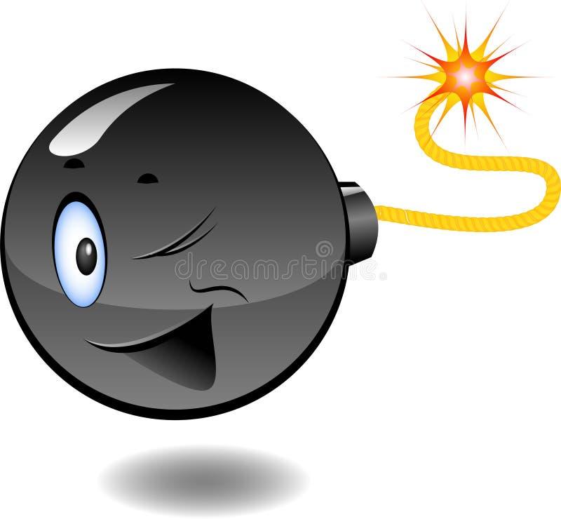 Bomba - serie de bombas de la historieta ilustración del vector