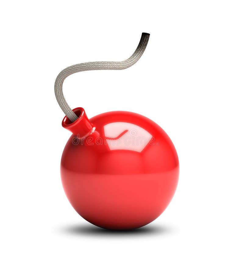 Bomba vermelha ilustração do vetor