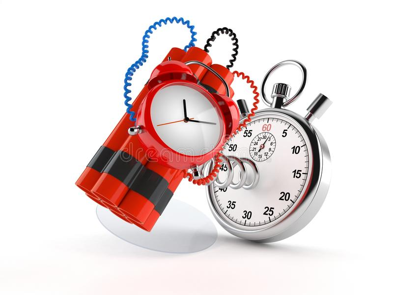 Bomba zegarowa z stopwatch ilustracji