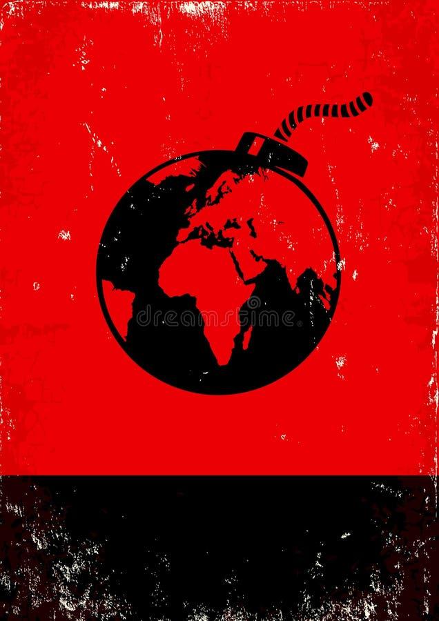 Bombardee y el globo ilustración del vector
