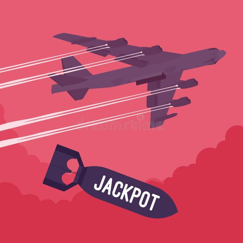 Bombardeio do bombardeiro e do jackpot ilustração royalty free