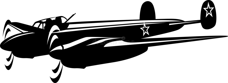 Bombardeiro ilustração do vetor