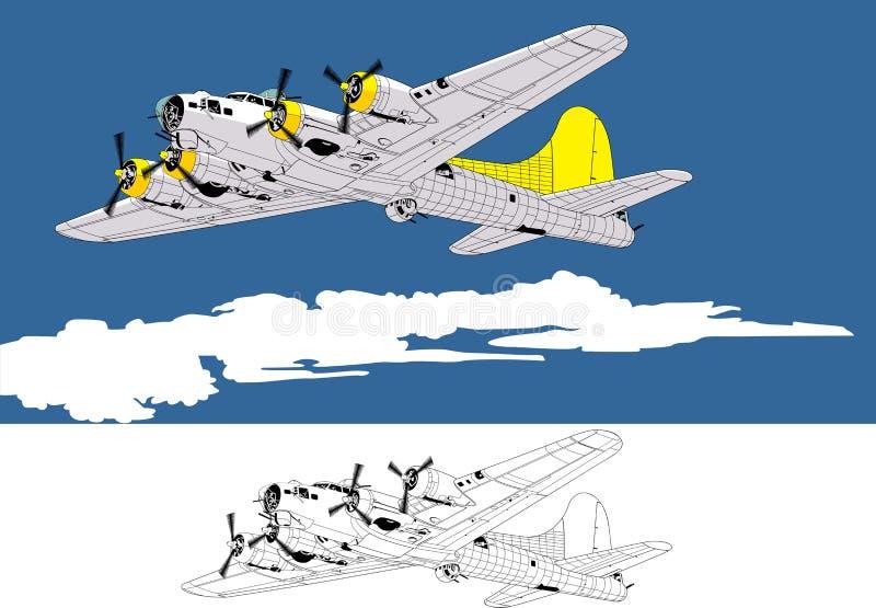 Bombardeiro ilustração stock