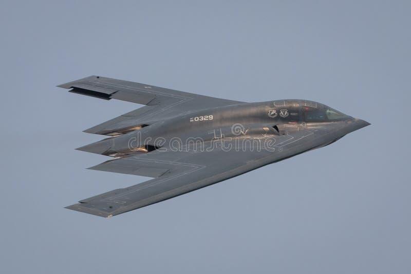 Bombardeiro B2 da Força Aérea dos Estados Unidos imagens de stock