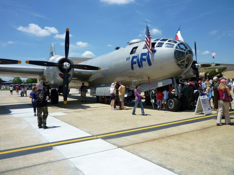 Bombardeiro de Fifi B29 imagem de stock
