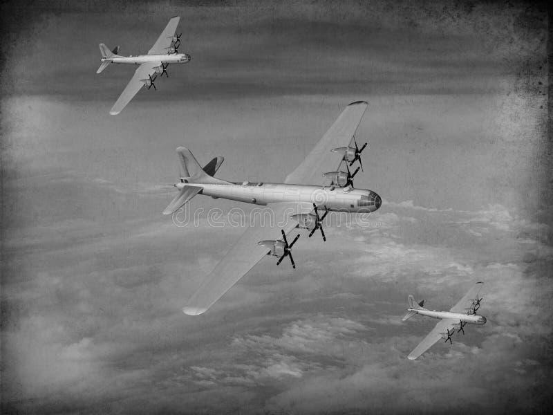Bombardeiro de WWII E.U. do Pacífico ilustração royalty free