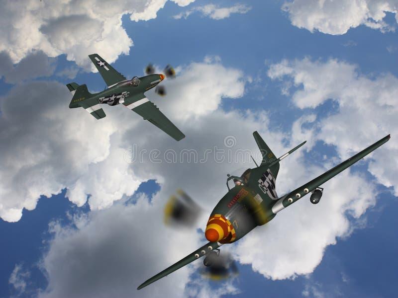 Bombardeiro do avião militar ilustração royalty free