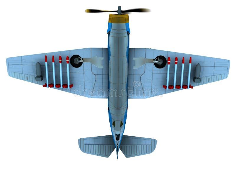 Bombardeiro do torpedo ilustração do vetor