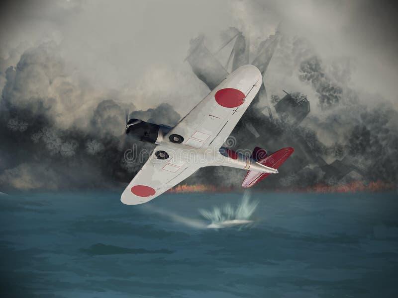 Bombardeiro japonês do torpedo ilustração royalty free