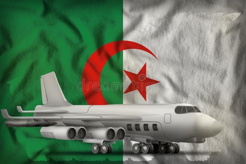Bombardeiro no fundo da bandeira do estado de Arg?lia ilustra??o 3D ilustração stock