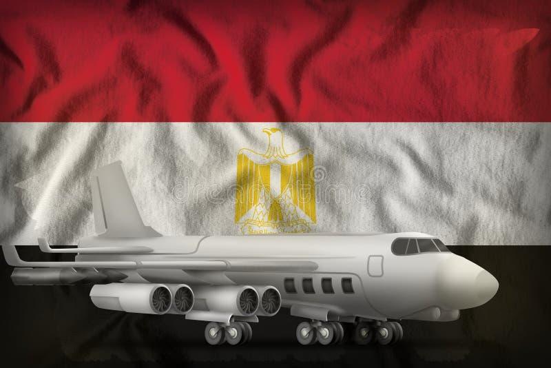 Bombardeiro no fundo da bandeira do estado de Egito ilustra??o 3D ilustração royalty free