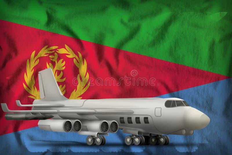Bombardeiro no fundo da bandeira do estado de Eritreia ilustra??o 3D ilustração royalty free
