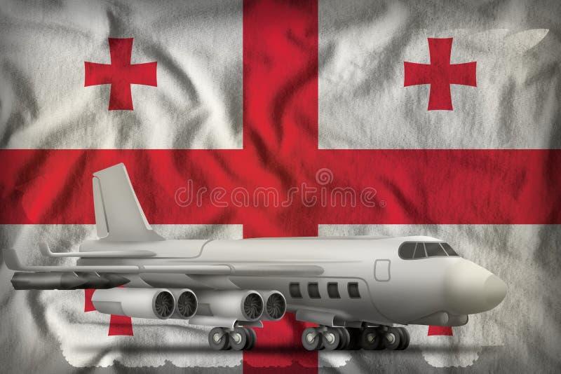 Bombardeiro no fundo da bandeira do estado de Ge?rgia ilustra??o 3D ilustração stock
