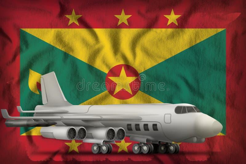 Bombardeiro no fundo da bandeira do estado de Granada ilustra??o 3D ilustração stock