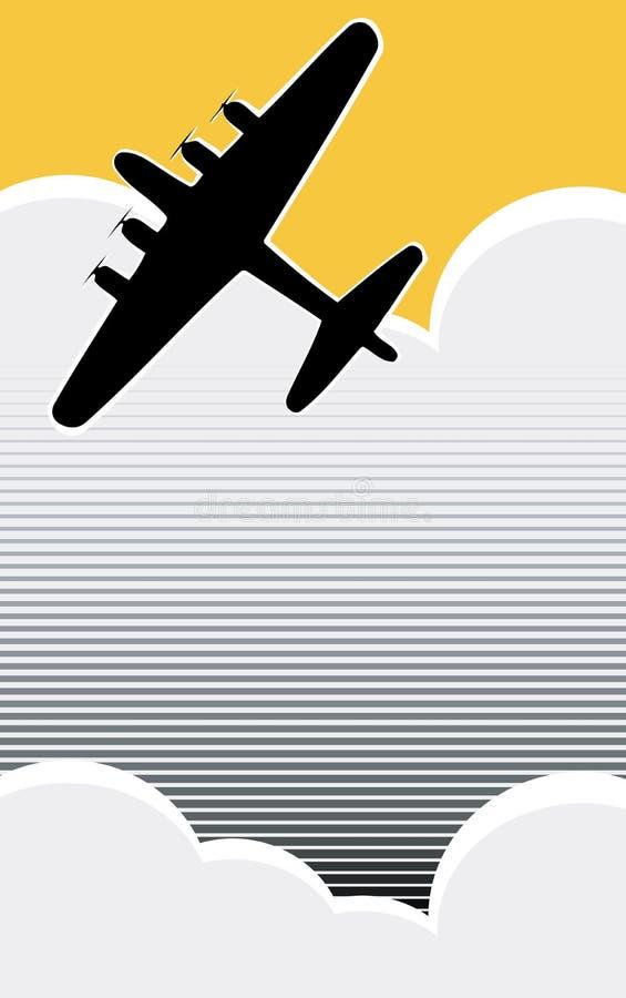 Bombardeiro solitário ilustração do vetor