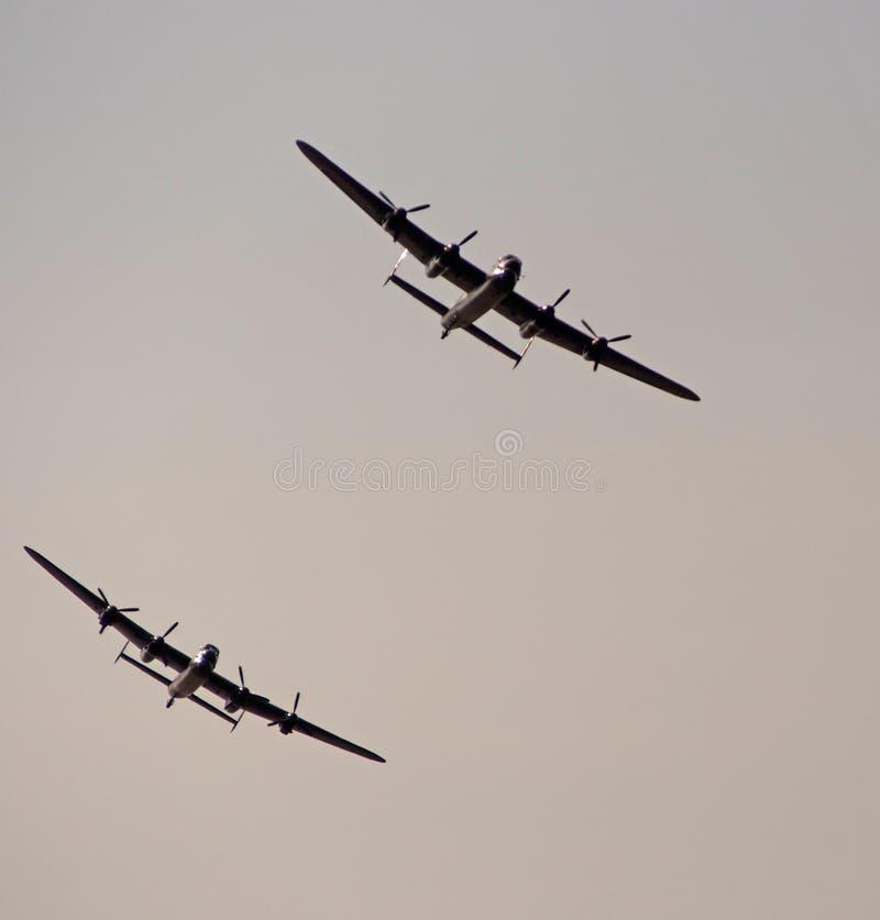 Bombardeiros de Lancaster fotografia de stock