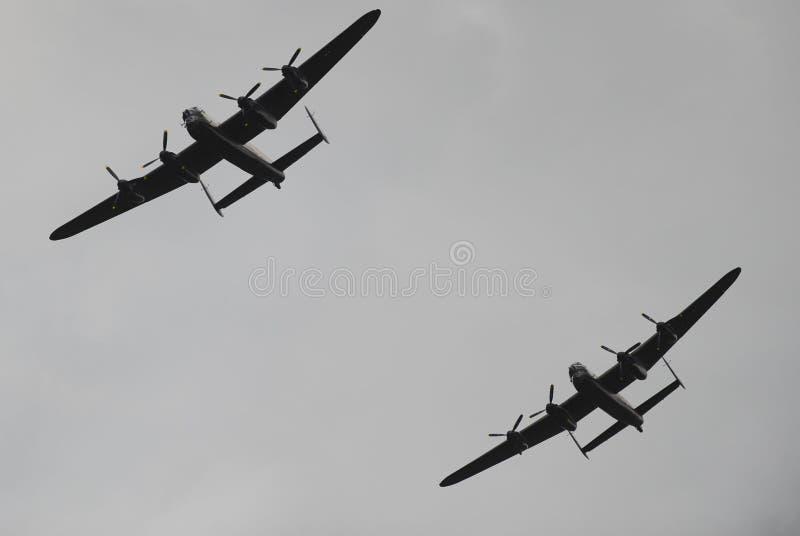 Bombardeiros de Lancaster foto de stock royalty free