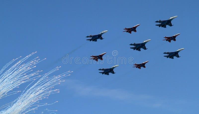 Bombardeiros do exército do russo fotografia de stock