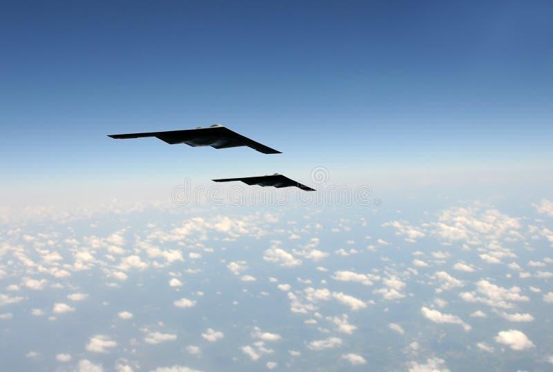 Bombardeiros estratégicos no vôo foto de stock royalty free