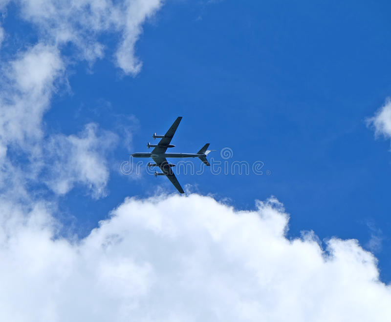 Bombardeiros estratégicos Tu-95 do russo fotografia de stock royalty free