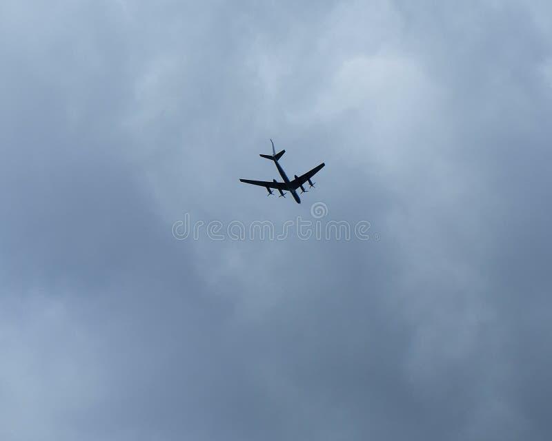 Bombardeiros estratégicos Tu-95 do russo fotos de stock royalty free