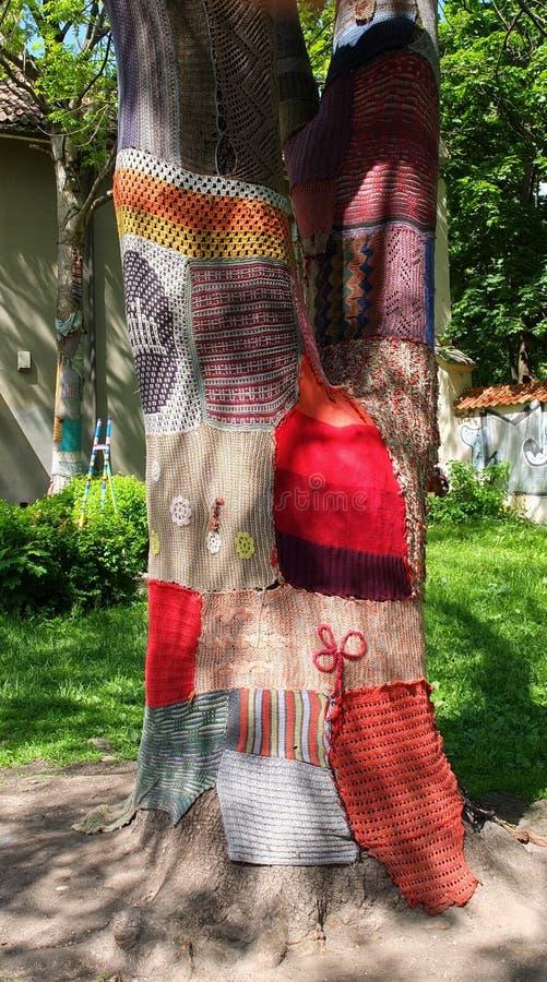 Bombardement de fil, graffiti de knit image libre de droits