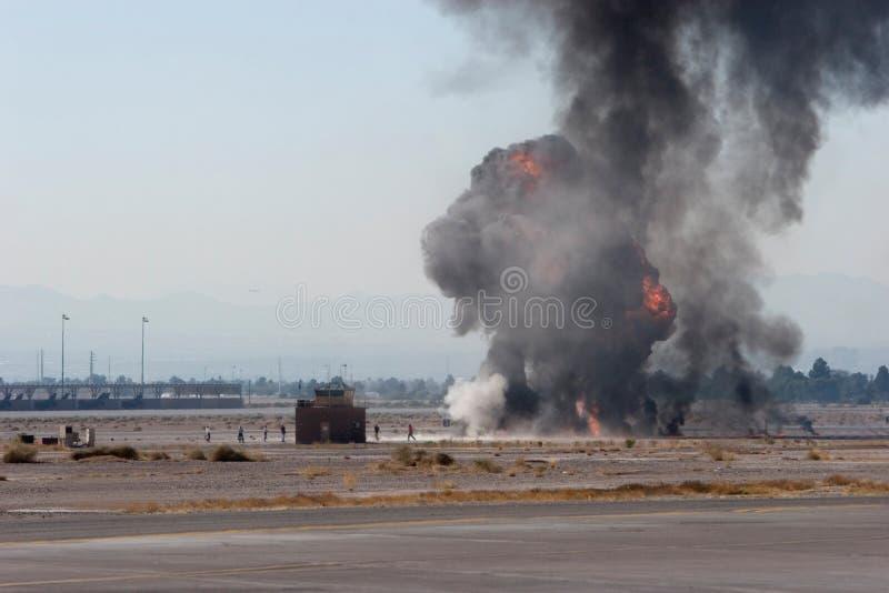 Bombardement de l'Armée de l'Air à l'airshow au Nevada photographie stock libre de droits