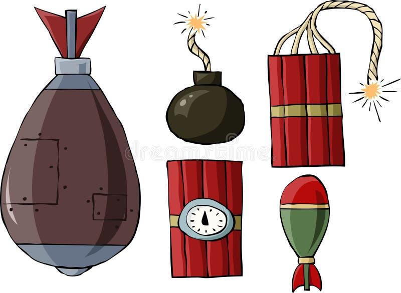 bombardera stock illustrationer