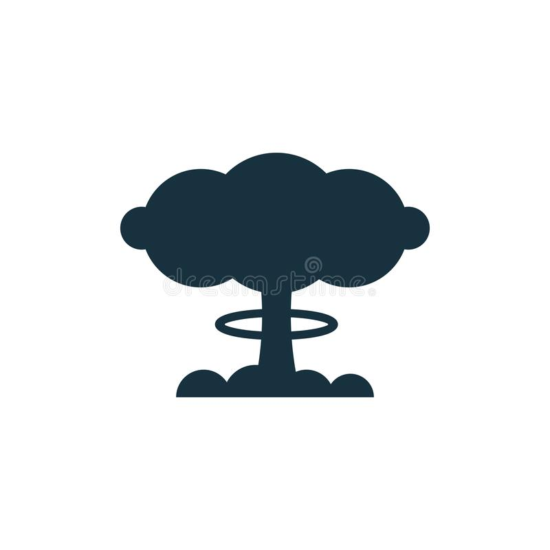 Bombardera atommolnsymbolen royaltyfri illustrationer