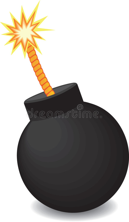 bombardera brandvektorn royaltyfri illustrationer