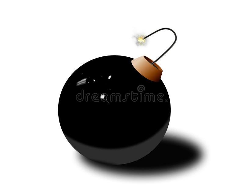 bombardera exploderar klart till royaltyfri illustrationer