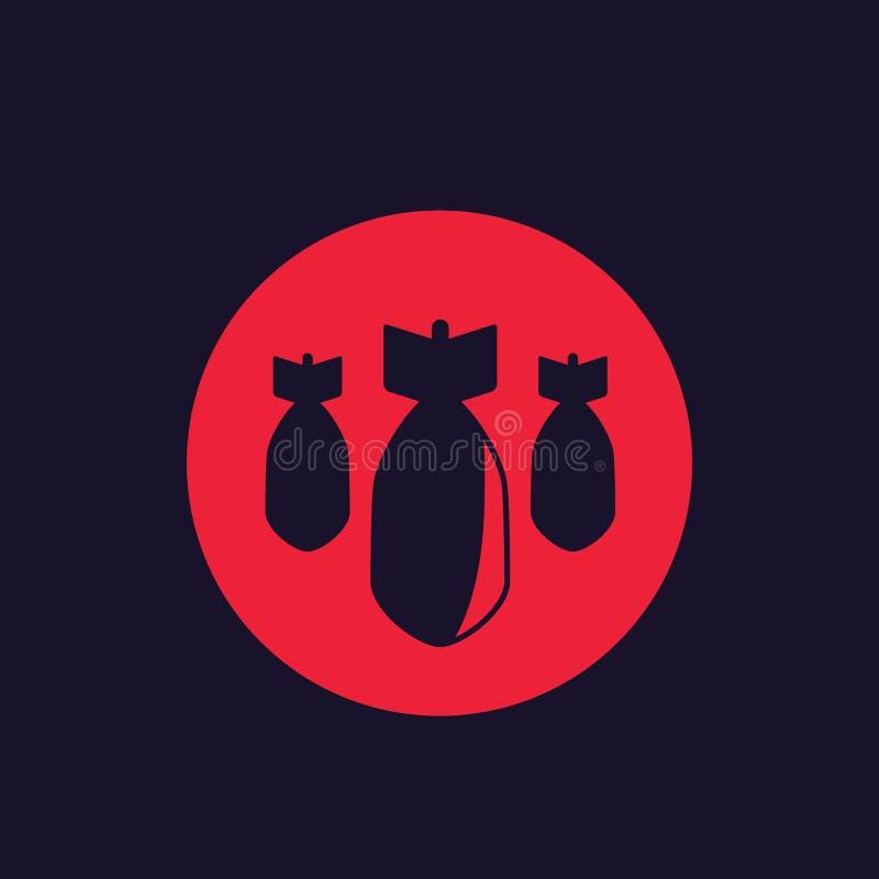 Bombarderar beskjutningvektorsymbolen royaltyfri illustrationer
