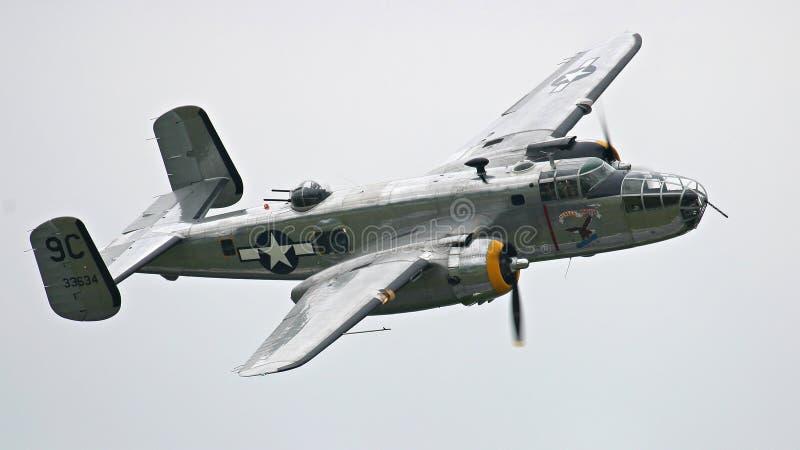 Bombardero B-25 foto de archivo