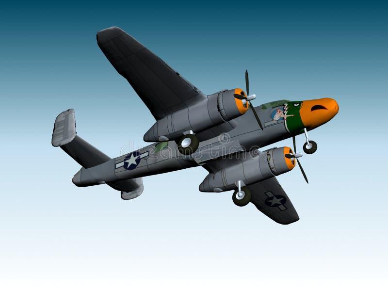 BOMBARDERO DE B25-J stock de ilustración