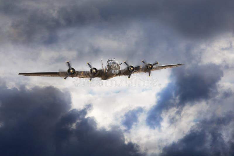 Bombardero de Boeing B-17 fotografía de archivo libre de regalías