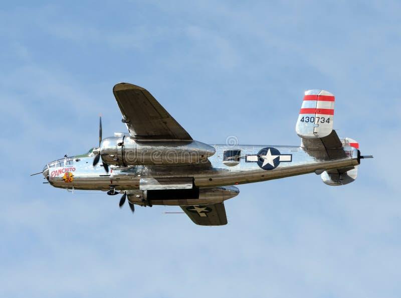 Bombardero de la era B-25 de la Segunda Guerra Mundial imágenes de archivo libres de regalías